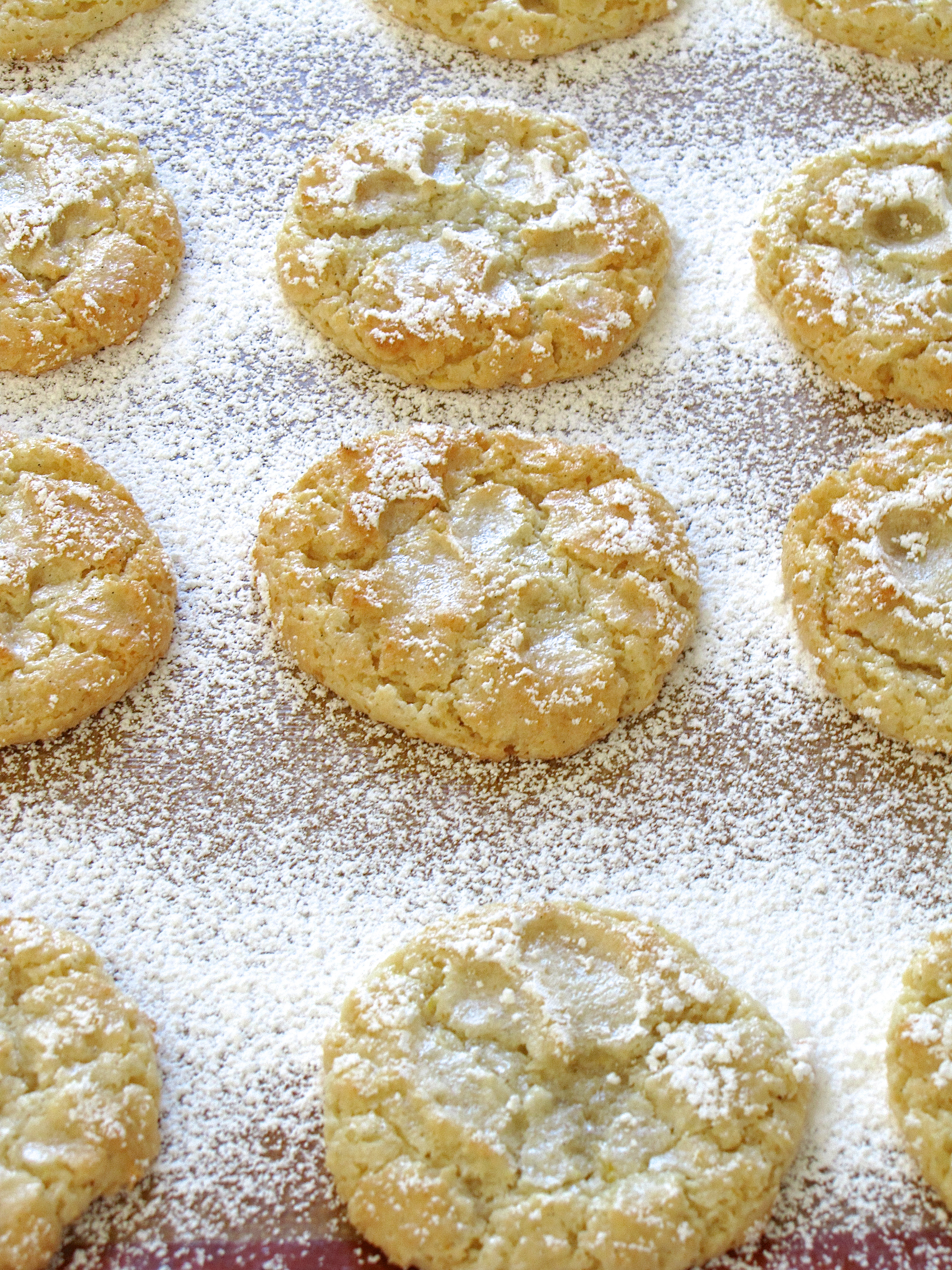Vanilla Almond Orange Cloud Cookies | Island Bakes