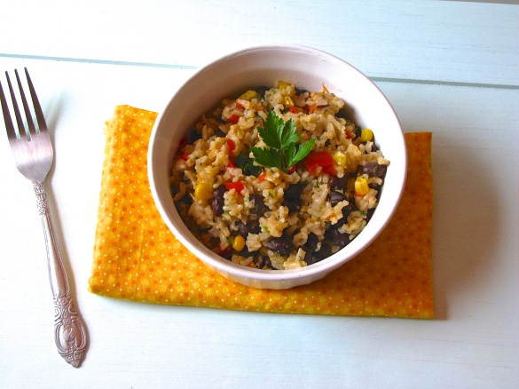 brown rice and blackbeans