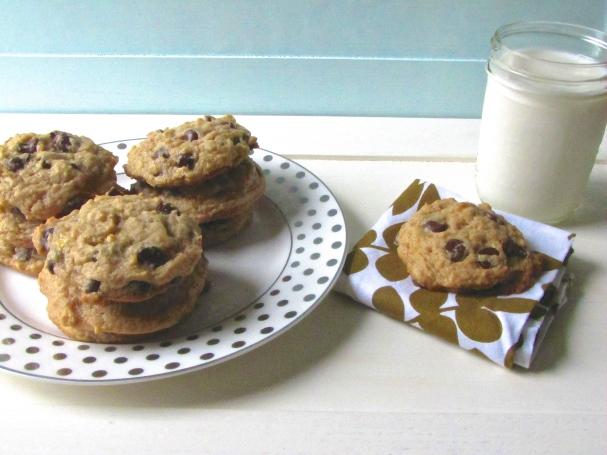 peanut butter, banana, chocolate chip cookies