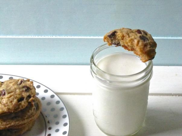 peanut butter, banana, chocolate chip cookies2